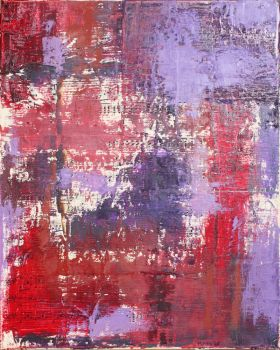 Abstract Oil on Sheet Music Collage by marygrew