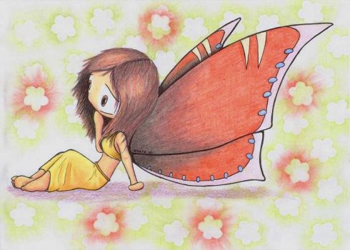 Red Butterfly by Nymphaerel