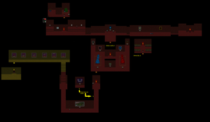 Ib map: Guillotine Hall and Red Rooms by WhatTheAwesomeIsThis