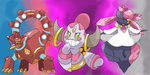 Volcanion Hoopa Diancie legends of Pokemon X and Y by Phatmon66