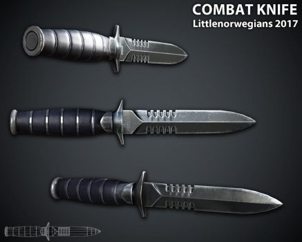 Combat Knife by Littlenorwegians