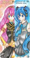 Vocaloid Duo by onetealeaf