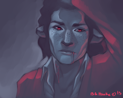 Bust: Speedpaint - Limited Palette (Laurent) by Hooke
