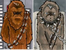 Star Wars Chrome Perspectives - Chewbacca by 10th-letter