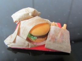 Miniature Fast Food Tray by Aya-no-Shrink-Ray