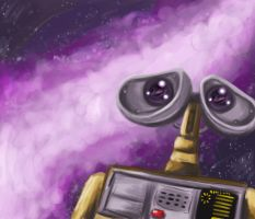 Out There- Wall-E Speedpaint by pettyartist