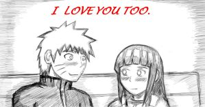 NaruHina: I love you too sketch by Shadow-chan15