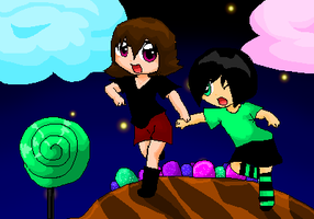 Derek And Felix in candy-land by luckycow3211