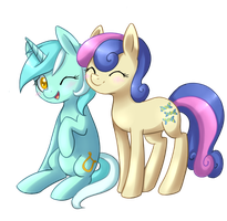 Lyra and Bon Bon by Vampirenok
