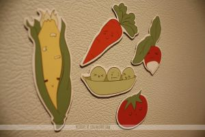 fresh veggie magnets by resubee