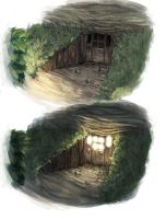 Grotto light study by N-A-R-I