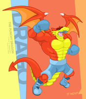 Red punchy Dragon by OutLeaf