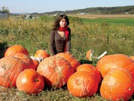 Cima with Giant Pumpkins by FairieGoodMother