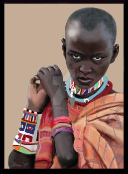 African Girl by vmf007