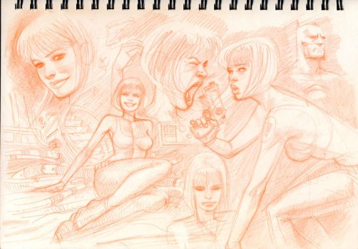 sketchbook page by DylanTeague
