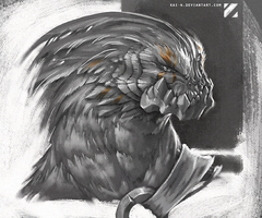 Bird monster thingy creature by kai-n