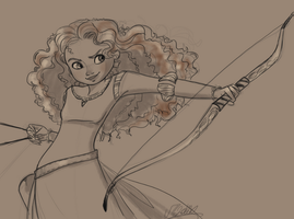 Princess Merida WIP by VPdessin