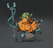 Goblin Technomage by Skiorh