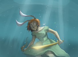 Alice UnderWater by Super-Cute