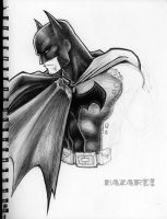 Sketches - Batman Ballpoint by MRHaZaRD