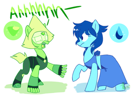 Ponified Lapis and Peridot by Yaaaco17