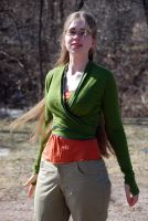 Green Wrap Top by Goldenspring