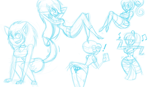 Random Monster Sketches by InFAMOUS-Toons