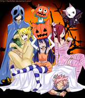 Fairy Tail halloween by Kaiikiller