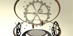 Clock gear stage by chocosunday