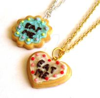 Eat Me Cake Necklaces by FatallyFeminine