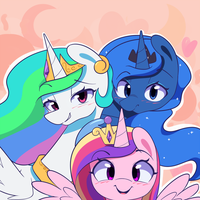 Pretty Pony Princesses by JoyfulInsanity
