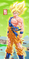 Goku Legendary Super Saiyajin by SnaKou