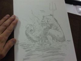 Aquaman VS SeaBear by RyanOttley