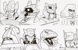 transformers sketch cards by optimuspint