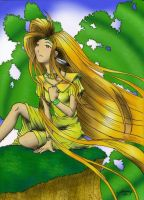 Forest Goddess - Colored by Kraheera