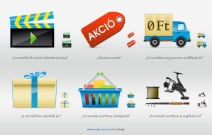 Fishing-tackle webshop icons by floydworx