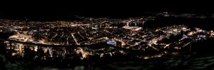 Winter in Bergen 3840x1080 by GSM2k