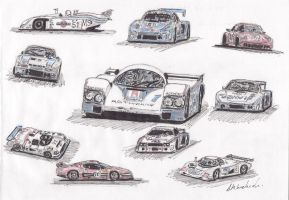 1982 Le Mans Cars by thunderingpikachu