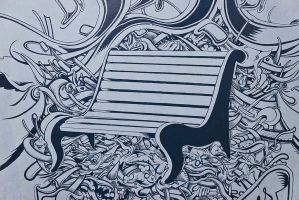 Banc Cannabis Bench Detail - Detalle Banco by jopelines
