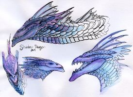 DnD Shadow Dragon - Practising by Silenced-Dreams