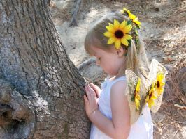sunflower fairy ponders by Fully-Stocked