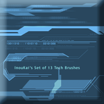 IK Set of 13 Tech Brushes by InouKai