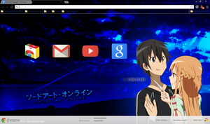 Google Chrome Sword Art Online Kirito x Asuna by Akw-Art-Design
