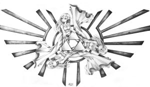 Goddess Triforce tattoo design by stray-life