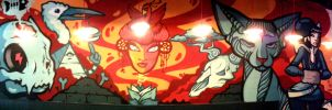 Alley Cat Bar - Collaboration with Danleo by Frizelle