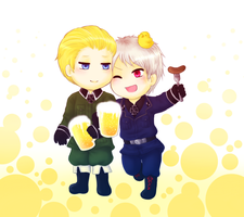 [Hetalia] Beers and Brotherhood by SnowLicht
