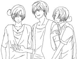 south Italy -Spain-north Italy (hetalia) by moondrop1XD