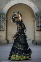 Stock - Black and gold Vampire Queen Faun Demon 49 by S-T-A-R-gazer