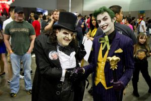 The joker and The Penguin by fiore666