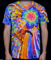 Samsara Mandala Shirt by PaintMyWorldRainbow